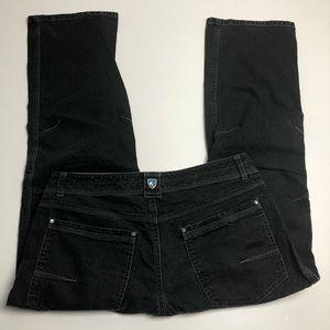 Kuhl Vintage Patinadye Black Jeans Mens Size 35